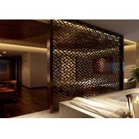 China Customized Color Decorative Metal Screen Panels Lightweight For House / Building on sale