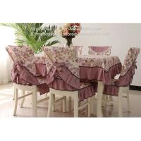 Quality Polyester fabric tablecloths and chair covers, wrinkle free heavy duty table linens, for sale