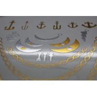 Quality Gold Metallic Temporary tattoo for sale