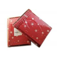 Quality Rigid Envelope Aluminium Metallic Bubble Mailer With Stunning Red Chirstmas Designs for sale