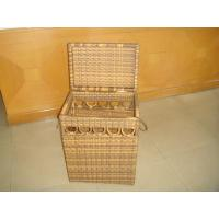 Quality Hand-Woven Brown Poly Rattan Storage Boxes For Bedroom / Storeroom for sale