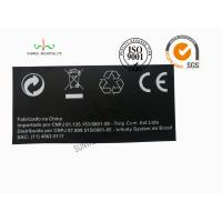 Quality Back Ground Custom Logo Print Sticker Labels Synthetic Paper Black Color for sale
