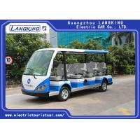 Quality High Impact Fiber Glass Body Electric Shuttle Car , 11 Seats Electric Passenger Vehicle With Sun for sale