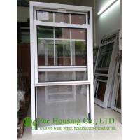 Quality Double Hung Tilt Aluminum Alloy Windows With Blue Reflective Glass And Insect Screens for sale