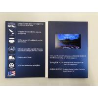 China Custom active Paper material 4.3inch LCD screen business advertising card video brochure card video in book for goods on sale