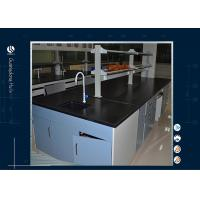 Quality Black Worktop Computer Lab Furniture Epoxy Resin Table For Cleanroom for sale