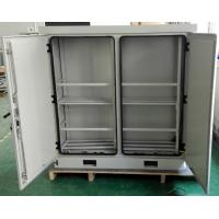 Quality SU304 Temperature Control Outdoor Stainless Steel Cabinets Anti smoke Anti corrosion Powder Coating for sale