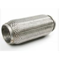 China 64 X 90mm Auto Exhaust Flexible Pipe With Interlock 444 + 409L Material on sale