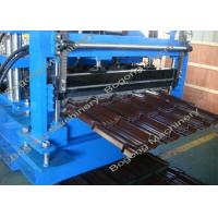 Quality Villa Roof Tile Roll Forming Machine Cr12 Steel Blade 2 - 4m / Min Working Speed for sale