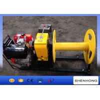 Quality 4HP Rated Load Portable Diesel Cable Winch For Transmission Line Laying Projects for sale