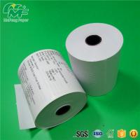Quality Dust Free Credit Card Terminal Paper Rolls High Performance Nontoxic Tight Rolling for sale