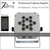 Quality 12X18W RGBWA-UV Battery LED PAR Light Wireless DMX WiFi Control LED Uplighting Charging Case Packing for sale