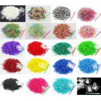 24 Colors cheap loom rubber bands for knitting rubber band bracelets DIY