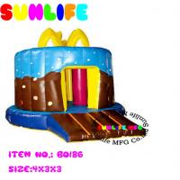Quality Colourful Happy Birthday Inflatable Bouncy Castle For Children Bounce Castle for sale
