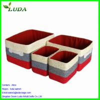 Quality Set of 4 styles curving matching wheat straw storage box for sale