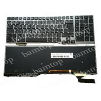 Quality Backlight Russian Language Keyboard Fujitsu Lifebook E753 With Gray Frame for sale