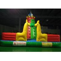 Quality Kids Outdoor Playground Inflatable Rock Climbing Wall With Extra Webbing Reinforced Strip for sale