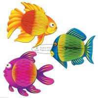 Quality Mulitcolor fish 35cm Kids Paper Lanterns children home party decoration baby shower for sale