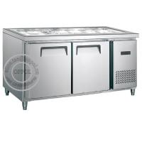 Quality OP-A604 CE Approved Double Doors Stainless Steel Workbench Refrigerator for sale