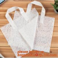 Quality eco-friendly biodegradable compostable Soft Loop Handle Shopping Garment Recycle Pe Bag,Handle Plastic Bag OEM Plastic B for sale