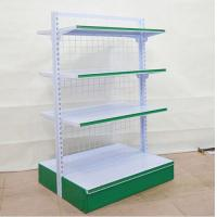 Quality 4 Layers Foldable Supermarket Display Shelving / Steel Storage Rack For Store for sale