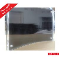 Quality OEM Acrylic Magnetic Photo Frame / Acrylic Curved Black Picture Frame for sale