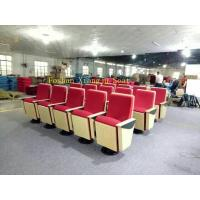 Buy cheap Wood Panel Church Auditorium Chairs ABS writting pad Lecture Hall Chair 580mm Dimention from Wholesalers
