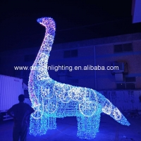 Quality giant led dinosaur outdoor christmas decorations for sale