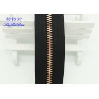Quality Custom Normal Teeth Long Chain Zipper In Roll Black Polyester Tape For Pants for sale