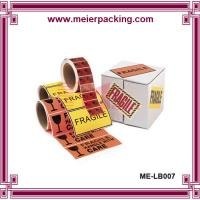 China China supplier high quality roll stickers ISO standard free design printing label sticker for cartons on sale