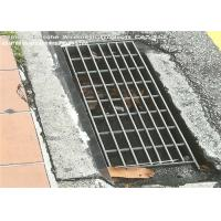 Vehicular Heavy Duty Steel Grate Drain Cover Silver Color I