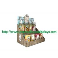 Quality Paper Corrugated Cardboard Counter Display Stand Recycled For POS Soap for sale