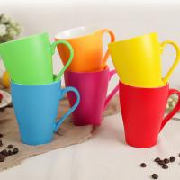 China Frosted Glazed Milk Coffee Custom Ceramic Coffee Mugs Microwave Safe Cadmium Free on sale