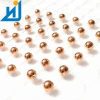 Quality H62 H65 Solid Pure Small Copper Balls For Valves 1/2 Inch 12.7mm Light Weight for sale