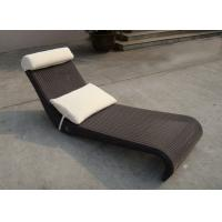 Quality All Weather Dark Brown Rattan Sun Lounger For Home Balcony for sale