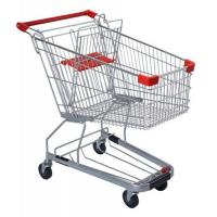 Quality 125 Litres Solid Metal Grocery Shopping Trolley Powder Plated With Tube Chassis for sale