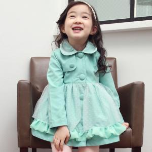 Quality Net yarn form trench coat of the girls,children clothingt,kids trendy coat,children coat for sale