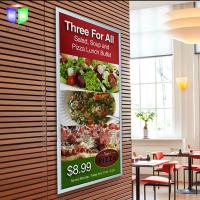 Quality Silver Acrylic Snap Frame Led Light Box With Menu Display , Restaurant Advertising for sale