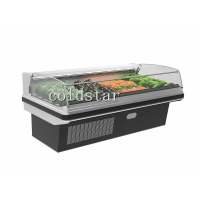 Quality Fresh meat display refrigerator/open chiller for butcher shop for sale