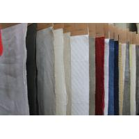 Quality Breathable Organic Cotton and Linen Mix Fabric , Washed Upholstery Cloth 20Ne * 20Ne for sale