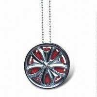 Quality Chrome Wheel Hanging Air Freshener, Various Fragrances are Available, OEM Orders are Welcome for sale
