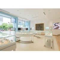 China Perfect Glass Jewelry Display Cases Retail Store Stainless Steel Wooden Material on sale