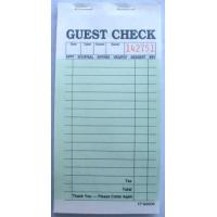 Buy cheap CT-G6000 guest checks  2parts green booked ISO Certificate from  TIMIpaper for restaurant fast selling in US MARKET from Wholesalers