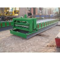 China Glazed Tile Machine / Steel Sheet Roll Forming Machine 0.40 - 0.70 Mm Sheet Thickness on sale