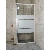 Buy cheap White Painted Profile Pivot Door Shower Enclosures 90X190cm from wholesalers