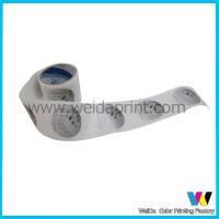 China Glossy Laminated Round Custom Sticker Printing Rolls Label for Cosmetics Products on sale