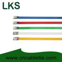 Colour Coated Ball-lock stainless steel cable tie