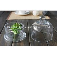 China Clear handmade glass lamp shade glass cake cover on sale