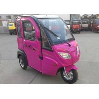 Quality Steel Rim Enclosed Electric Tricycle 1000 W Max Loading 160 KG For Women for sale