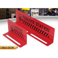 Quality ZC-S002 Red Lockout Station / Durable Steel Material 282g Lockout Tagout Station for sale